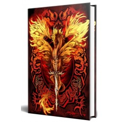 Dragon Flame Blade Embossed Journal Gothic Plus Gothic Clothing, Jewelry, Goth Shoes & Boots & Home Decor