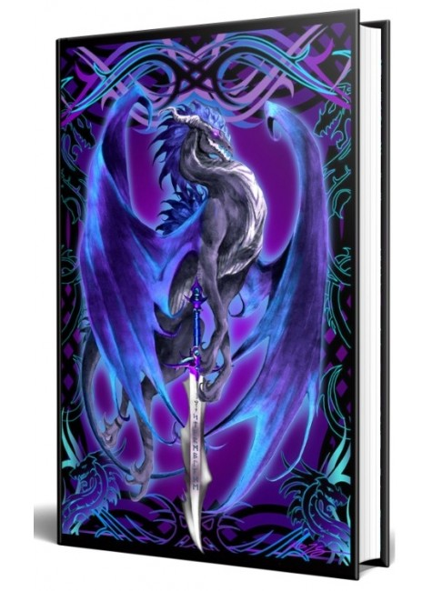 Dragon Storm Blade Embossed Journal at Gothic Plus, Gothic Clothing, Jewelry, Goth Shoes & Boots & Home Decor