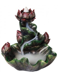 Lotus Flower Backflow Incense Burner Gothic Plus Gothic Clothing, Jewelry, Goth Shoes & Boots & Home Decor