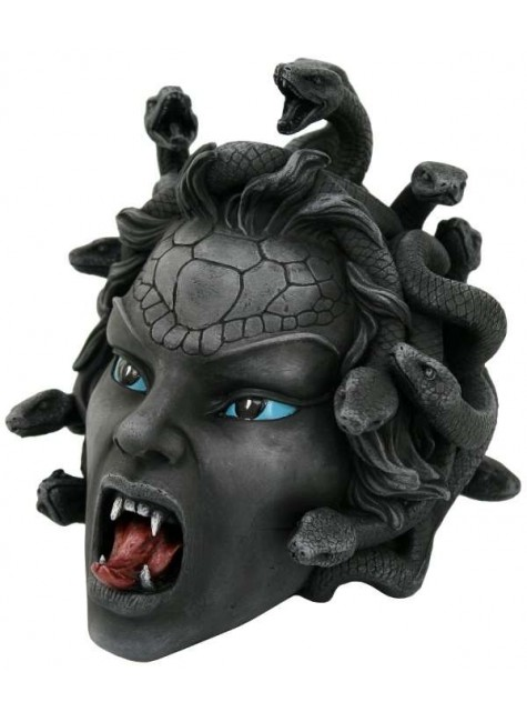 Medusa Head Greek Gorgon Statue at Gothic Plus, Gothic Clothing, Jewelry, Goth Shoes & Boots & Home Decor