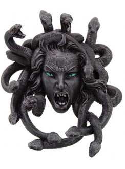 Medusa Head Greek Gorgon Plaque Gothic Plus Gothic Clothing, Jewelry, Goth Shoes & Boots & Home Decor