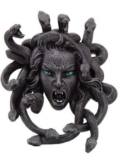 Medusa Head Greek Gorgon Plaque at Gothic Plus, Gothic Clothing, Jewelry, Goth Shoes & Boots & Home Decor
