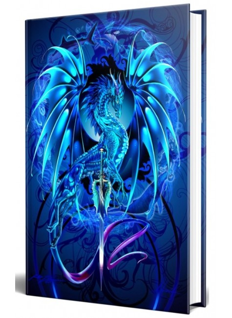 Dragon Sea Blade Embossed Journal at Gothic Plus, Gothic Clothing, Jewelry, Goth Shoes & Boots & Home Decor