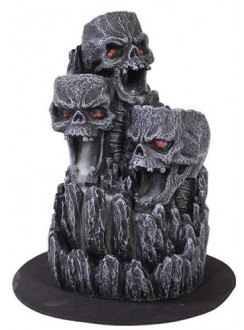 Skull Mountain Backflow Incense Tower Gothic Plus Gothic Clothing, Jewelry, Goth Shoes & Boots & Home Decor