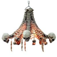 Skull and Bones Chandelier