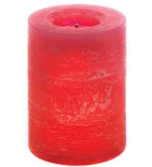 Rustic Cinnamon Flameless Pillar Candle at Gothic Plus,  Gothic Clothing, Jewelry, Goth Shoes, Boots & Home Decor