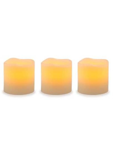 Unscented LED Pillar Candles with Timer - Set of 3 at Gothic Plus, Gothic Clothing, Jewelry, Goth Shoes & Boots & Home Decor