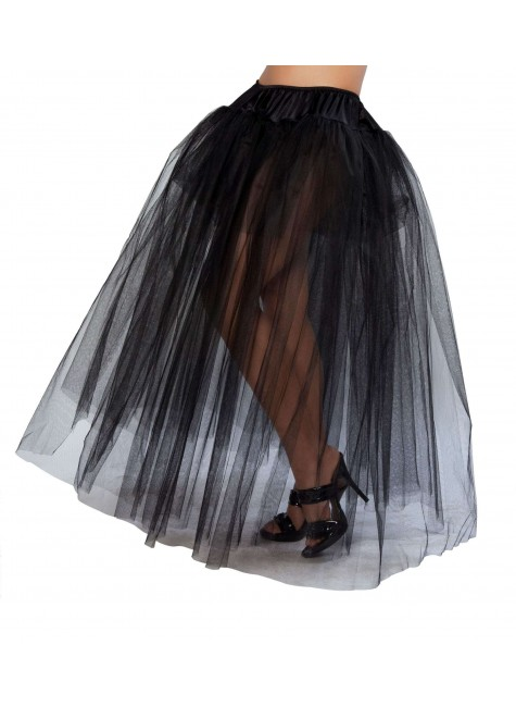 Black Full Length Tulle Skirt at Gothic Plus, Gothic Clothing, Jewelry, Goth Shoes & Boots & Home Decor
