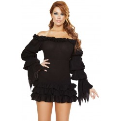 Ruffled Gothic Pirate Dress Gothic Plus  Gothic Clothing, Jewelry, Goth Shoes, Boots & Home Decor