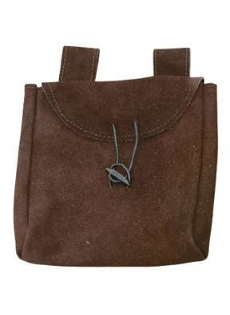 Brown Suede Large Belt Pouch at Gothic Plus, Gothic Clothing, Jewelry, Goth Shoes & Boots & Home Decor