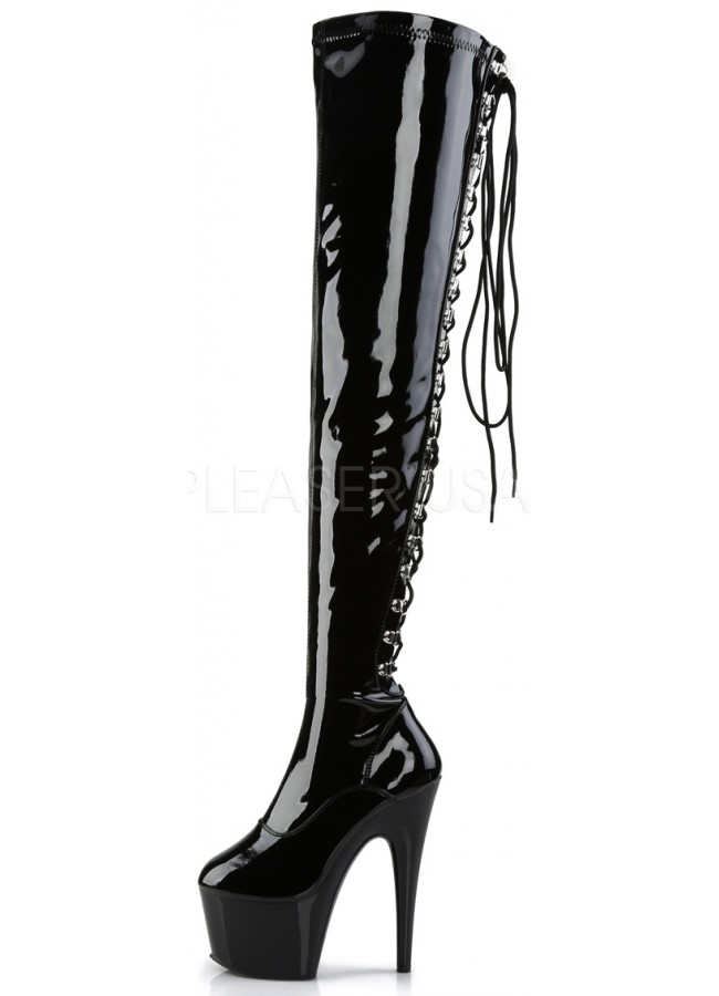 5dba37f5135 ... Adore Lace Up Back Thigh High Platform Boot at Gothic Plus