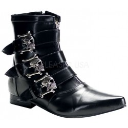 Skull Buckle Brogue Ankle Boot Gothic Plus  Gothic Clothing, Jewelry, Goth Shoes, Boots & Home Decor