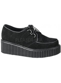 Black Suede Womens Creeper Gothic Plus Gothic Clothing, Jewelry, Goth Shoes & Boots & Home Decor