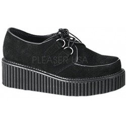 Black Suede Womens Creeper Gothic Plus  Gothic Clothing, Jewelry, Goth Shoes, Boots & Home Decor