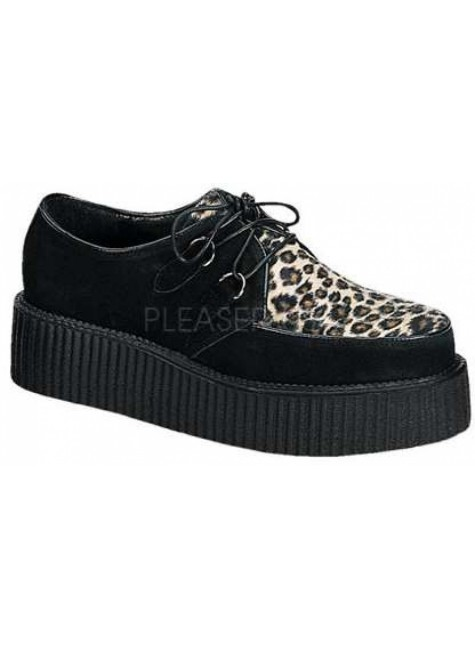 Leopard Print Mens Creeper Loafer at Gothic Plus, Gothic Clothing, Jewelry, Goth Shoes & Boots & Home Decor