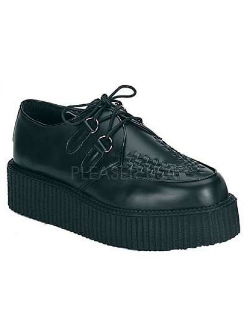 Black Leather Mens Creeper Loafer at Gothic Plus, Gothic Clothing, Jewelry, Goth Shoes & Boots & Home Decor