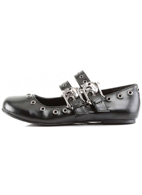 Skull Buckle Mary Jane Flat Gothic Shoes at Gothic Plus, Gothic Clothing, Jewelry, Goth Shoes & Boots & Home Decor