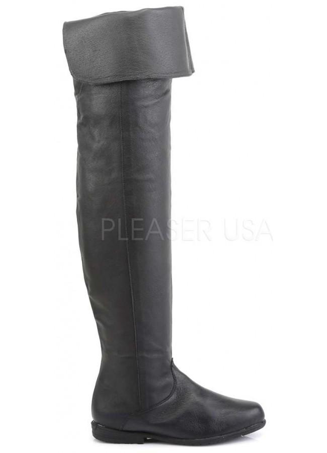 faed7aaa433 Maverick Unisex Flat Thigh High Pirate Boot - Thigh High Boots