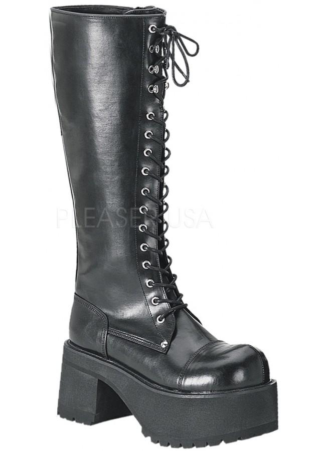 1502de86b1e Ranger Mens Vegan Leather Combat Boot - Platform Combat Boot for Men
