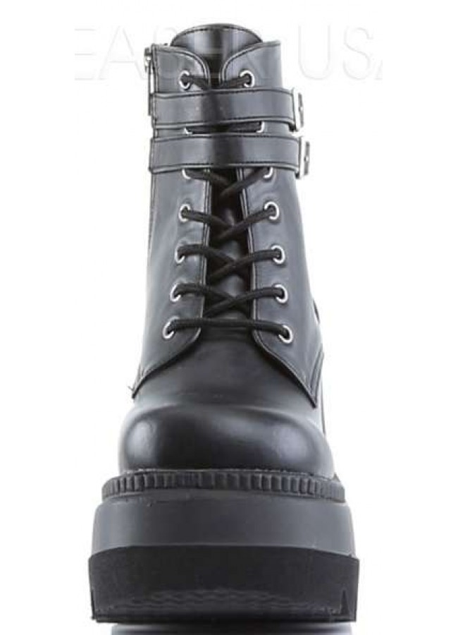 89420af78f ... Shaker 52 Lace Up Front Stacked Wedge Ankle Boot at Gothic Plus, Gothic  Clothing, ...