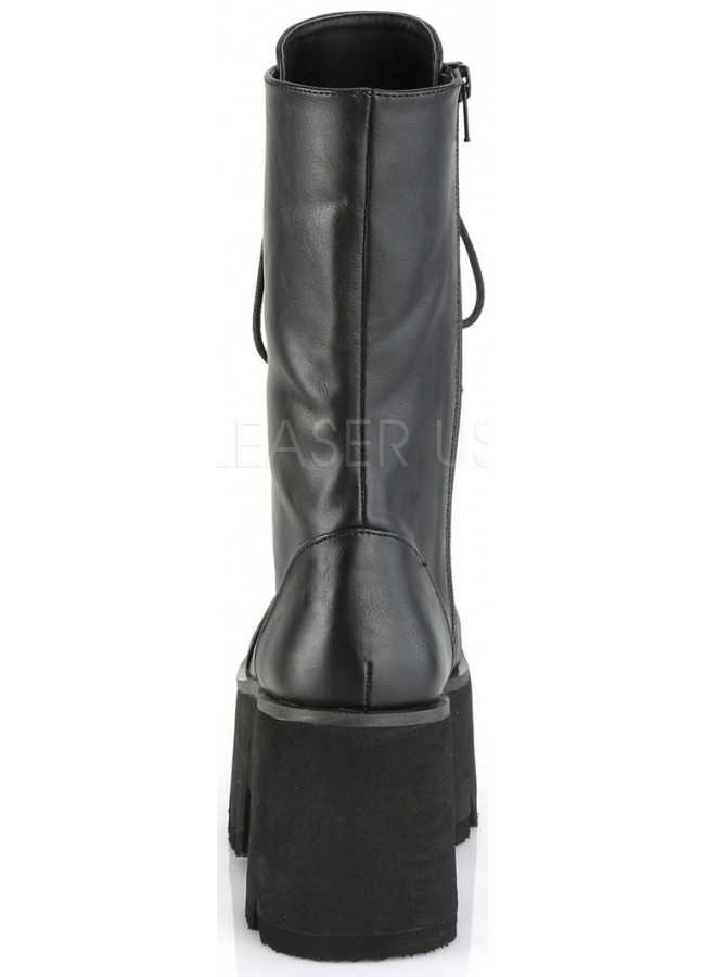 2ad40ba379a ... Ashes Womens Mid-Calf Platform Combat Boot at Gothic Plus, Gothic  Clothing, Jewelry