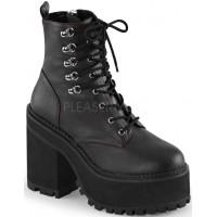 Assault Block Heel Womens Combat Boot