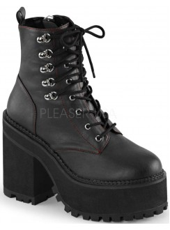 Assault Block Heel Womens Combat Boot Gothic Plus Gothic Clothing, Jewelry, Goth Shoes & Boots & Home Decor