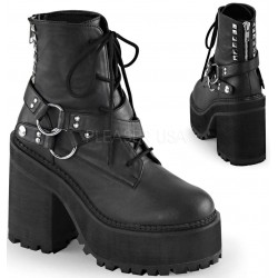 Assault Wrapped Block Heel Womens Combat Boot Gothic Plus Gothic Clothing, Jewelry, Goth Shoes & Boots & Home Decor