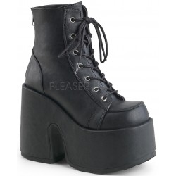 Black Matte Chunky Platform Ankle Boots Gothic Plus Gothic Clothing, Jewelry, Goth Shoes & Boots & Home Decor