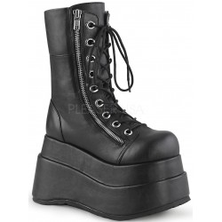 Bear Black Matte Womens Platform Boot Gothic Plus Gothic Clothing, Jewelry, Goth Shoes & Boots & Home Decor