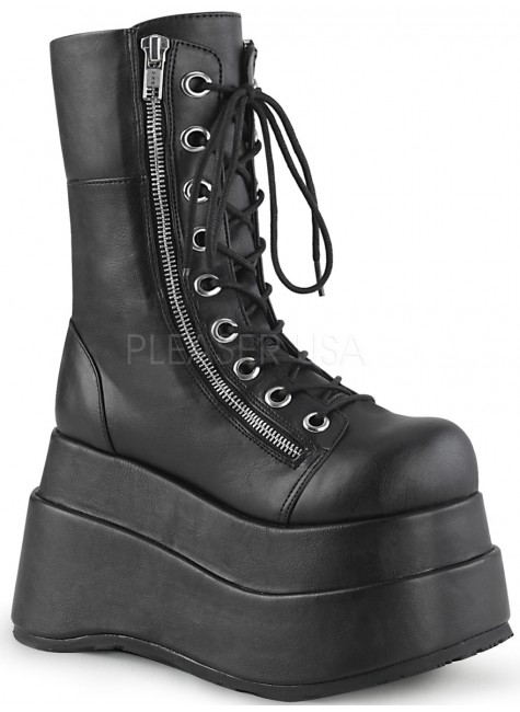 Bear Black Matte Womens Platform Boot at Gothic Plus, Gothic Clothing, Jewelry, Goth Shoes & Boots & Home Decor