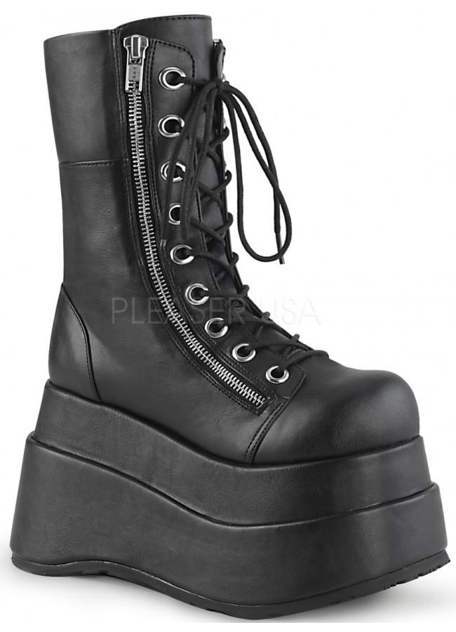 Bear Black Matte Womens Platform Boot