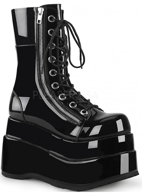 Bear Black Womens Platform Boot at Gothic Plus, Gothic Clothing, Jewelry, Goth Shoes & Boots & Home Decor