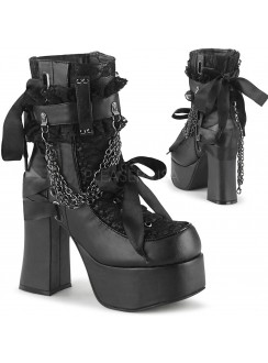 Charade Lace Accent Ankle Boots Gothic Plus Gothic Clothing, Jewelry, Goth Shoes & Boots & Home Decor
