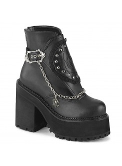 Assault Black Rose Womens Ankle Boot