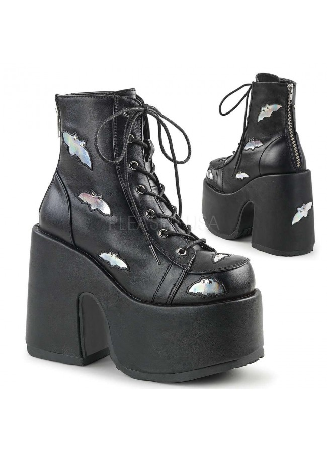 Camel Chunky Black Batty Platform Boots at Gothic Plus, Gothic Clothing,  Jewelry, Goth