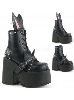 Kitty and Bunny Ear Chunky Heel Platform Boots Gothic Plus Gothic Clothing, Jewelry, Goth Shoes & Boots & Home Decor