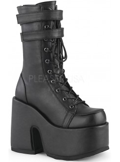 Black Matte Platform Chunky Heel Boots Gothic Plus Gothic Clothing, Jewelry, Goth Shoes & Boots & Home Decor
