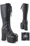 Charade Spider Bow Knee High Boots
