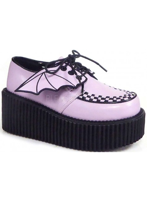 Pink Bat Wing Creepers for Women at Gothic Plus, Gothic Clothing, Jewelry, Goth Shoes & Boots & Home Decor