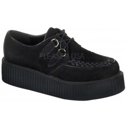 Black Suede Mens Creeper Loafer Gothic Plus Gothic Clothing, Jewelry, Goth Shoes & Boots & Home Decor