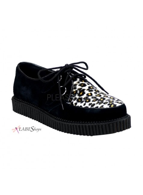 Leopard Mens Creeper Loafer at Gothic Plus, Gothic Clothing, Jewelry, Goth Shoes & Boots & Home Decor