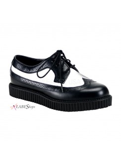 Rockabilly Mens Leather Creeper Loafer Gothic Plus Gothic Clothing, Jewelry, Goth Shoes & Boots & Home Decor