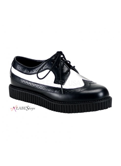 Rockabilly Mens Leather Creeper Loafer at Gothic Plus, Gothic Clothing, Jewelry, Goth Shoes & Boots & Home Decor