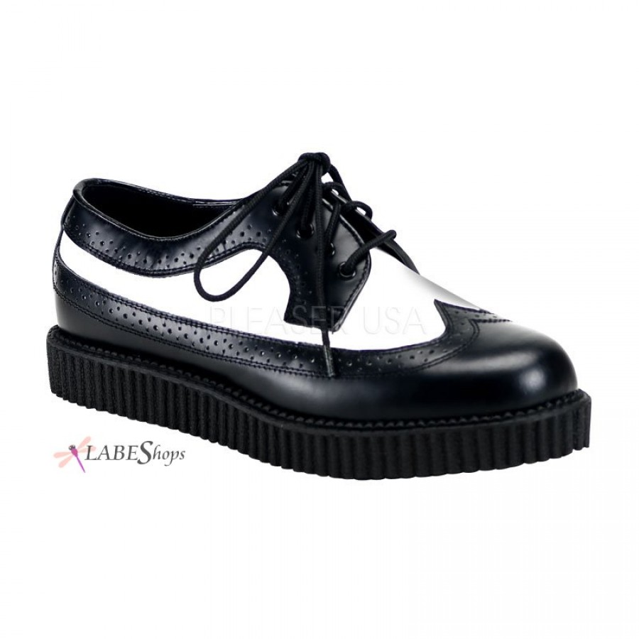 rockabilly mens leather creeper loafer