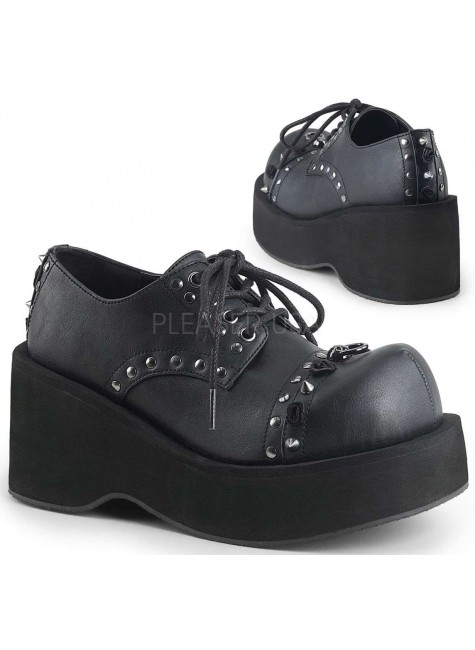Dank Womans Black Platform Oxford Shoe at Gothic Plus, Gothic Clothing, Jewelry, Goth Shoes & Boots & Home Decor