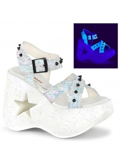 Dynamite Star Womens Platform White Sandal