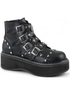 Emily Low Platform Heart Stud Ankle Boot Gothic Plus Gothic Clothing, Jewelry, Goth Shoes & Boots & Home Decor