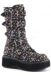 Emily Floral Print Mid-Calf Boot