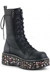Emily Floral Platform Mid-Calf Boot